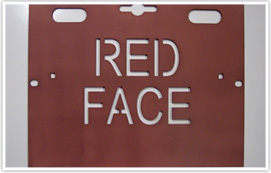 Red Face Battery Cover